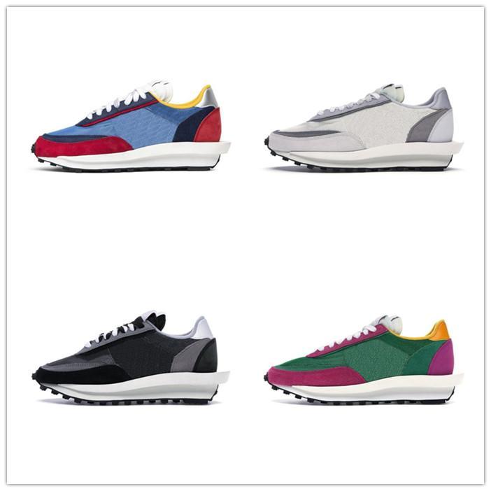 Nueva Pegasus SP LDV Waffle Negro Blanco Moda para hombre de las zapatillas de deporte de verano de malla transpirable 3 zapatos corrientes de las mujeres Sole Bottom BV0073