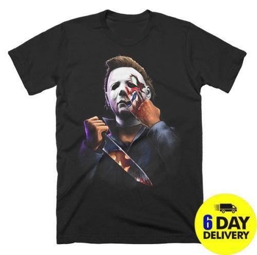 Halloween et simplement mauvais Purement T-shirt Michael Myers Je déteste les gens Cartoon hommes de T-shirt unisexe New tshirt Mode