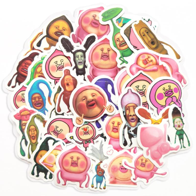 40 PCS Mixed Car Stickers Pink Peachs For Skateboard Laptop Fridge Helmet Pad Bicycle Bike Motorcycle PS4 Notebook Guitar PVC Decal