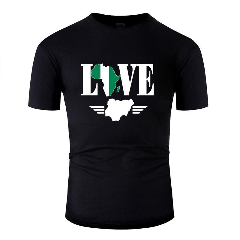 Футболка для мужчин Природные Anti-Wrinkle Досуг Мальчик Девочка Нигерия Флаг Африка Карта Футболки 2019 Camisetas Hip Hop