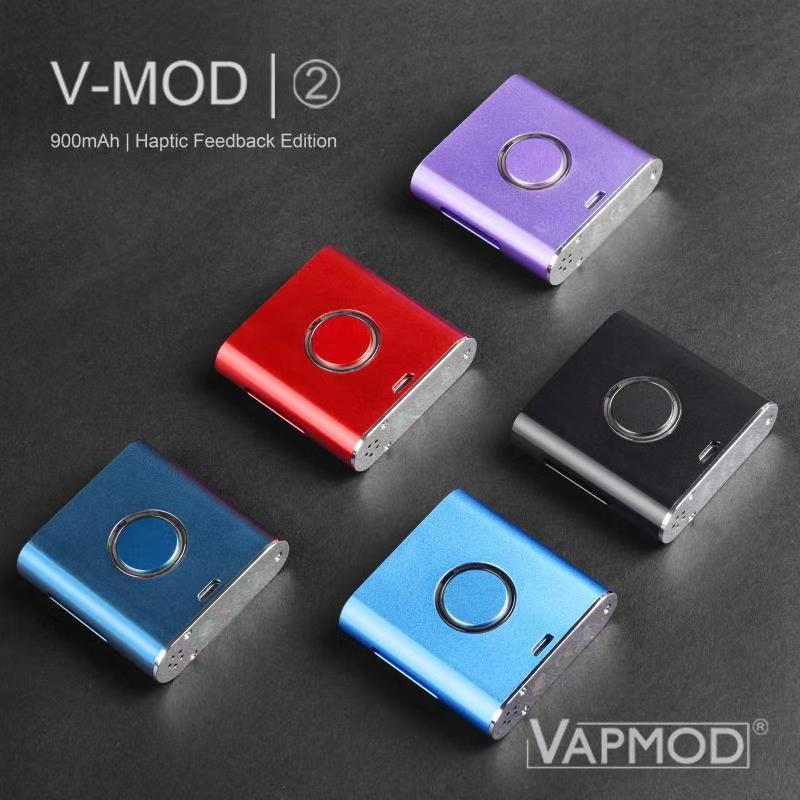 100% Original Vapmod VMOD 2 II Battery Kit 900mAh Preheat VV Variable Voltage Battery Vape Box Mod For 510 Cartridges Tank Authentic