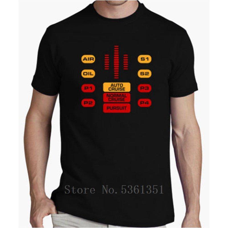 Горячие Продажа Summer Style Camiseta El Coche Фантастико Панель управления De Knight Rider Китт T Shirt Мужчины с коротким рукавом Хлопок Tee Shirt