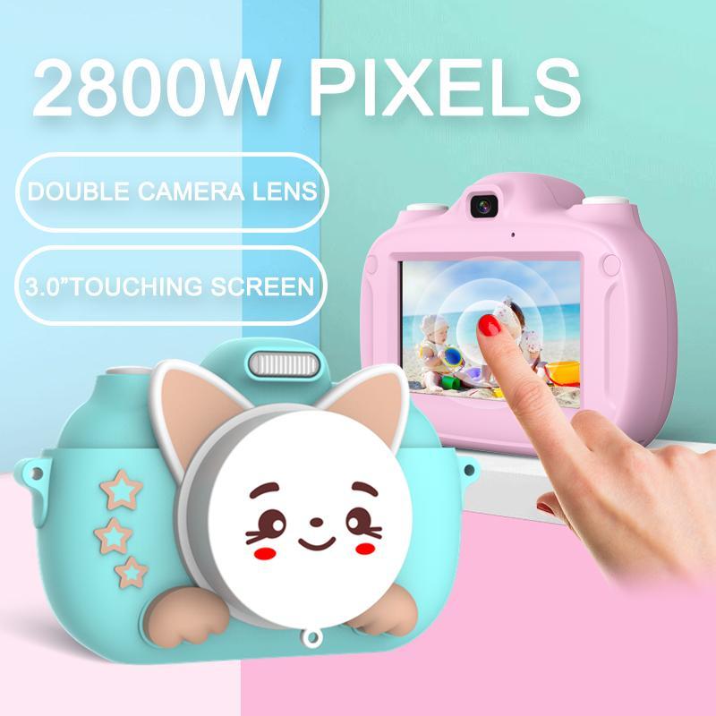 Kamera HD 1080P Taşınabilir Dijital Video Fotoğraf Çocuk 1200W Kamera Oyuncak Şarj Edilebilir Kamera Mini 3.0 inç Ekran Eğitici Açık Oyuncak