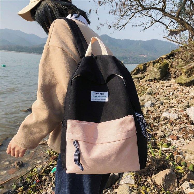 I5Gkc New Vintage девушки мешок женщин корейской ulzzang средней школы кампуса все-матч Новый год сбора винограда девушки мешок женских корейских ulzzangstudents средней школы