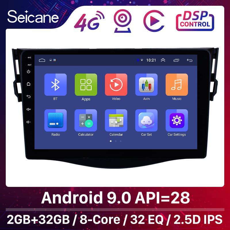 Seicane Autoradio GPS-Multimedia-Einheit-Spieler für Toyota RAV4 2007 2008 2009-2013 Unterstützung DVR OBD Rearview-Kamera Bluetooth Wifi