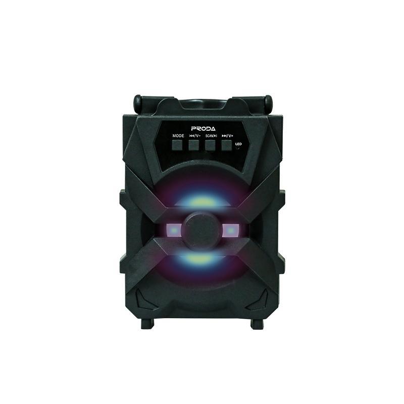 Altifalante sem fios Bluetooth Proda Series Xunshen Speaker Portátil com slot para cartão TF e função FM perfeito para atividades ao ar livre