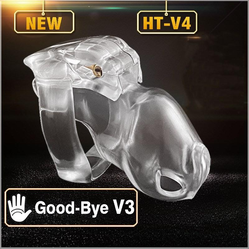 2020 New V4 Male Chastity Cage Device Bondage Fetish Sex Toys For Men Cock Cage Male Chastity Belt Chastity Device Penis Trainer