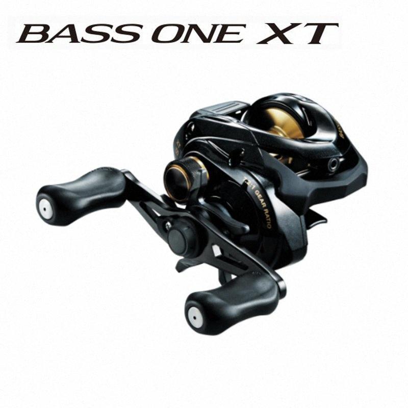 Original Shimano XT BASS ONE 150 151 Droite Gaucher Baitcasting canne à pêche Rapport de transmission 7,2: 1 SVS Syetem Coil Pêche roue RFST #
