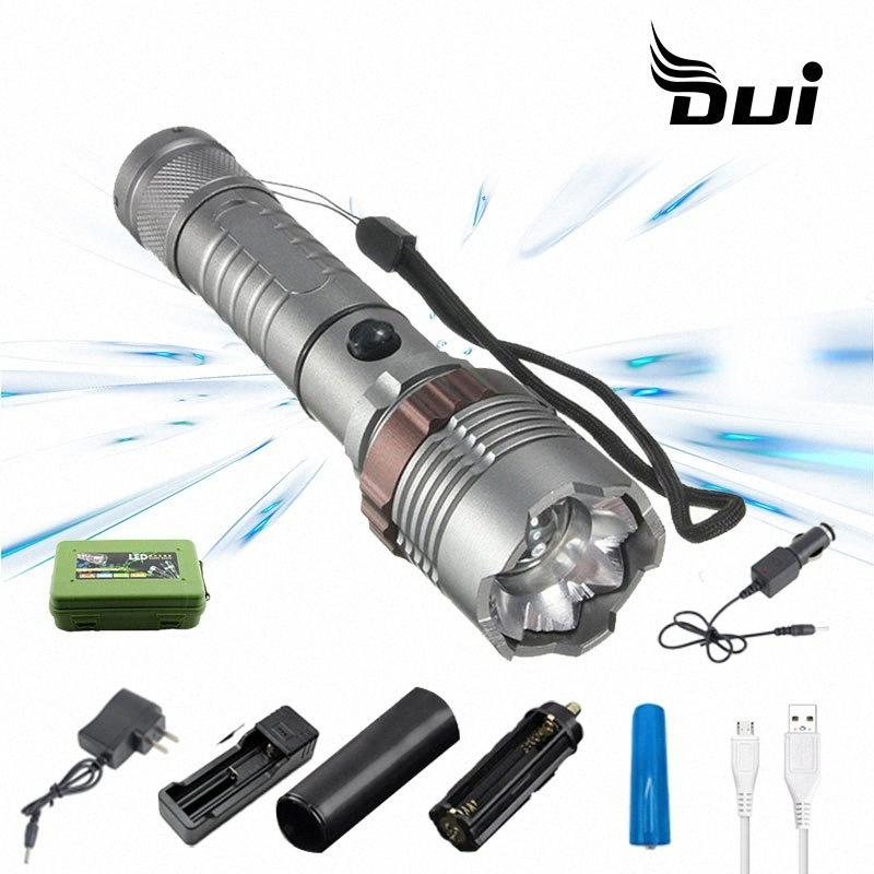 DUI super brillante T6 potente zoom recargable Batalla de Trabajo 10 LED antorcha lámpara de luz de flash Maglite 3D LED recargable Luz de coches cP2A #
