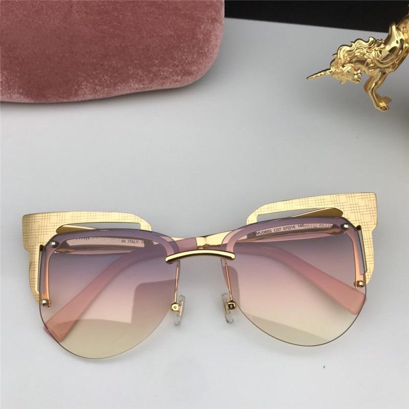 Frauen l Sonnenbrille Freizeit beste Qualität Die beliebtesten Steampunk Vintage Mode tenperament Sunglass Modell SMU085