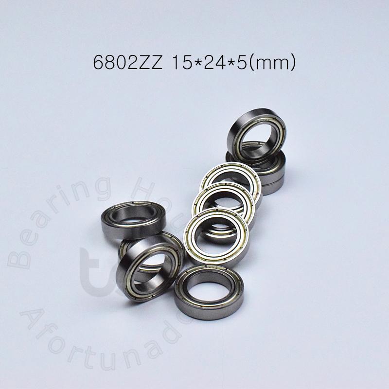 6802ZZ bearings10pcs / lot metallo di cuscinetto sigillato trasporto libero 6802 cuscinetto 6802ZZ 6802Z 15 * 24 * 5 mm sotto la scanalatura acciaio cromato 61802