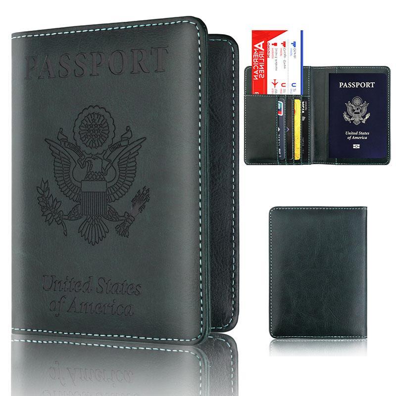Seyahat için Cüzdan Deri Tasarımcı Erkekler Kredi Kart Sahibi Kimlik Kartı Kılıf Yeni Pasaport Kapağı Tutucu Cüzdan
