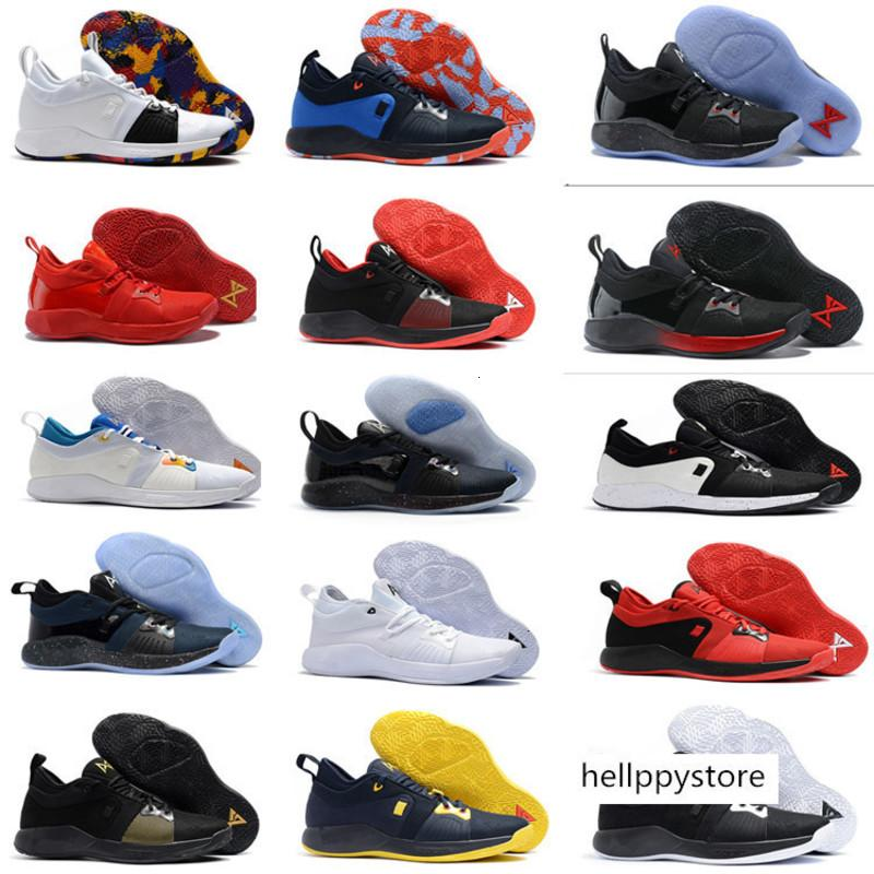 2018 Geliş Paul George, 2 Basketbol Ayakkabı Hig kalite PG2'dir PS4 Playstation Siyah Mavi Kırmızı Beyaz PG 2s Spor Sneakers Size40-46