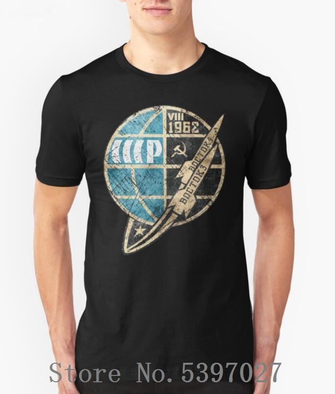 Short Sleeve CCCP Boctok VIII 1962 T-Shirt Mann-Sommer-lustiges Hemd Russischen Sowjet UDSSR-T-Shirt Raum lässige Tees Tops