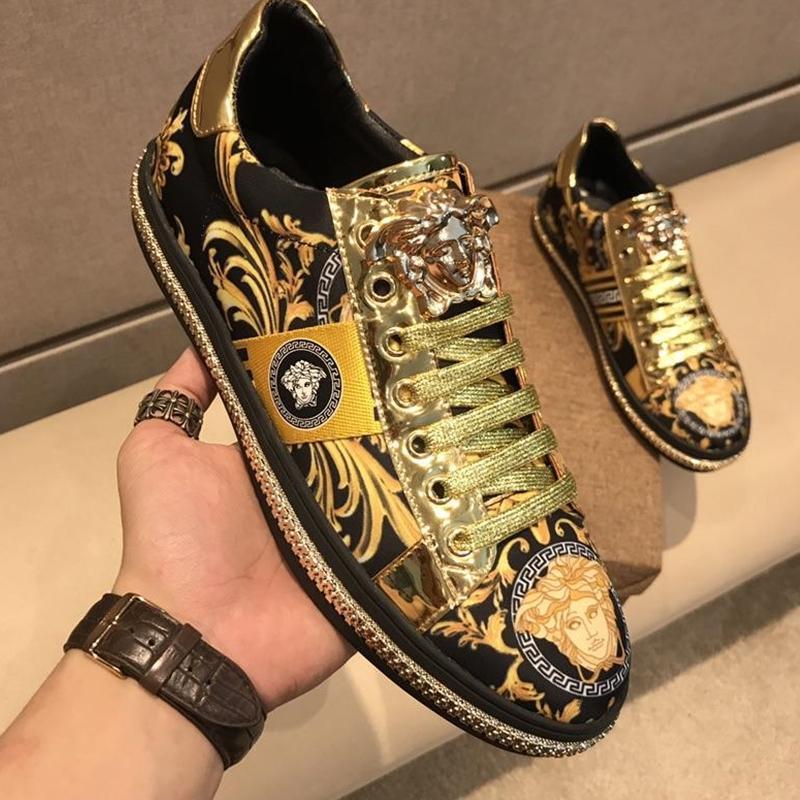 gli uomini di lusso scarpe firmate casuali di nuovi uomini di arrivo pattini casuali, mens sneakers scarpe di cuoio degli uomini di alta qualità di trasporto dei 30