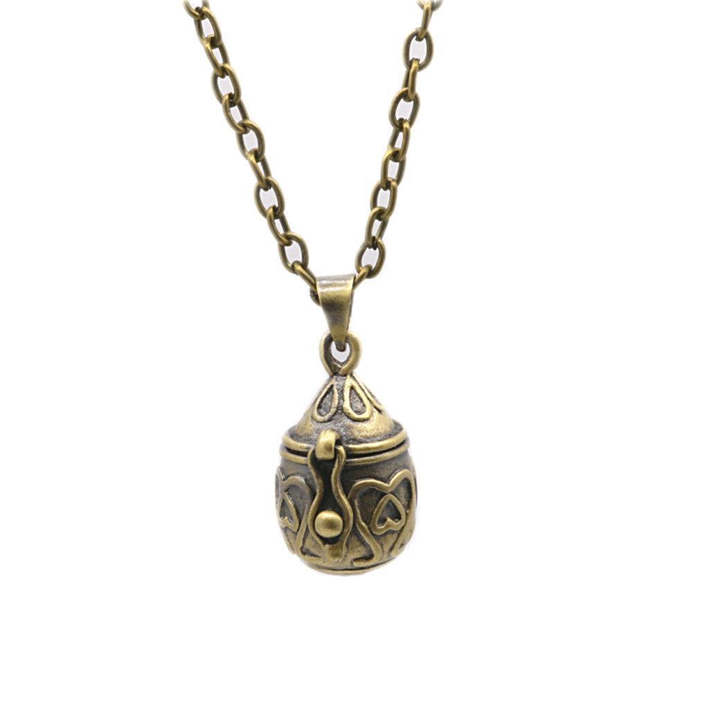 10PCS Retro Oval Pet Ashes Souvenir Mini Cremation Wishing Pendant Bronze Necklace Ash Pendant