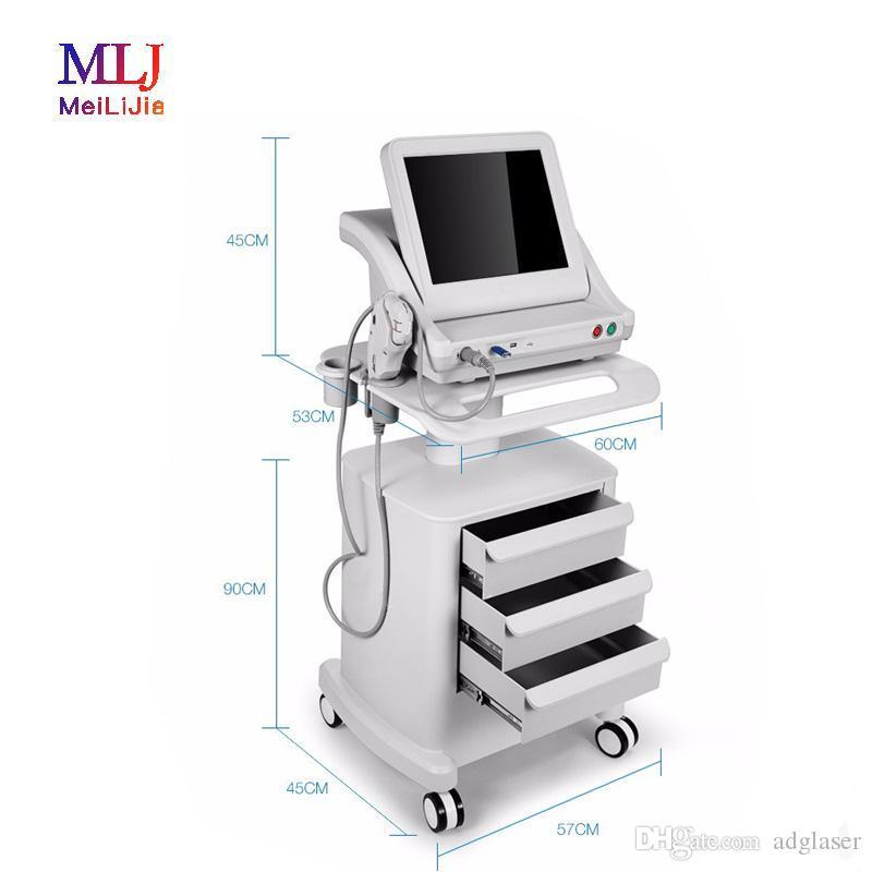 El envío libre 5 Jefes Ultrasound HIFU cara y el cuerpo de la máquina de elevación con alta intensidad de salón y del hogar