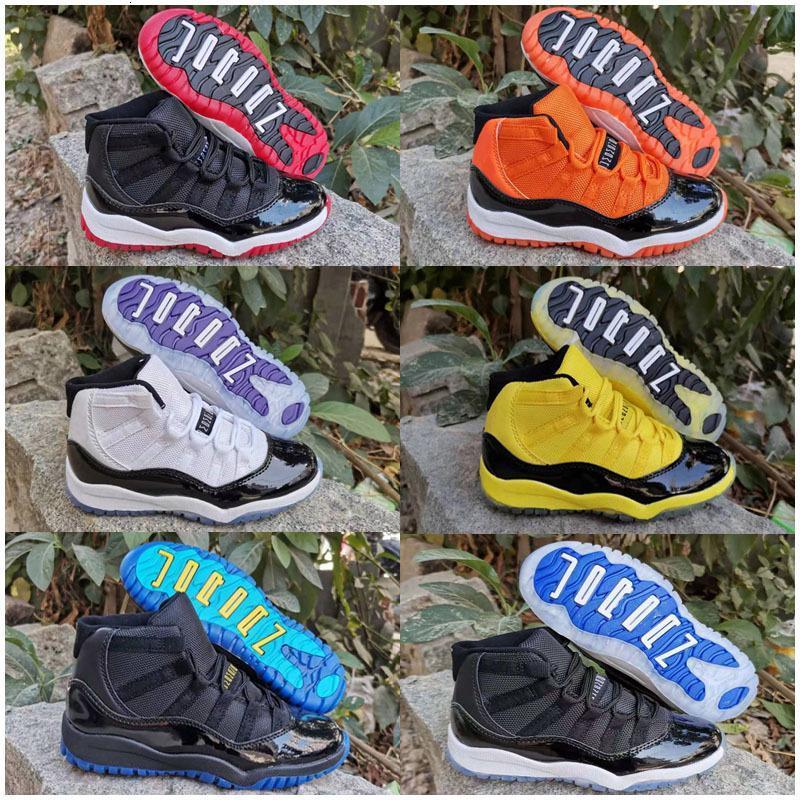2020 Yeni Bebek Çocuk 11 11'leri Ayakkabı Bred Concord Uzay Pembe Gym Kırmızı Mavi 11 Ayakkabı Sneakers Hediye İçin Boys