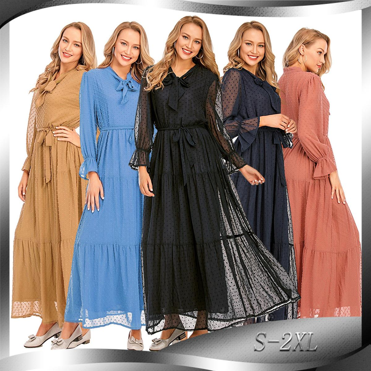 2020 приграничного Плюс Размера Кафтан Абай Дубай Хиджаб мусульманского платья Кафтан Marocain турецкого платье джилбаб Abayas для женщин Ислам платье
