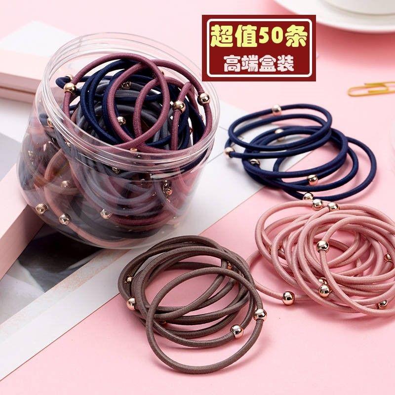 Hair-tied rubber band Korean ins Net red hair band hair leather cover high elastic head rope simple headwear hair rope