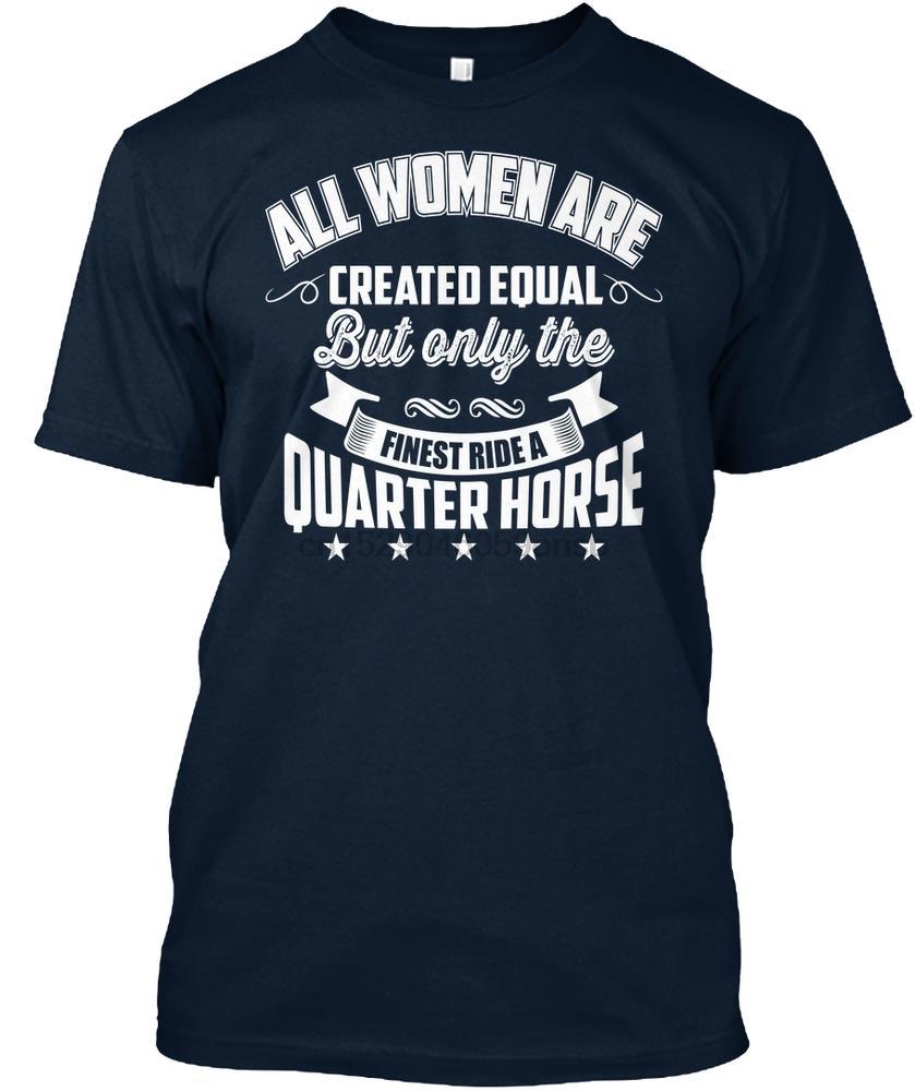 T shirt Uomo solo i migliori donne giro Quarter Horse donne maglietta