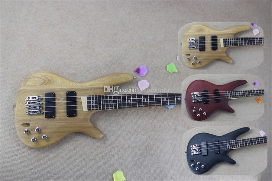 Ücretsiz kargo Ultra-ince bas, 4 dizeleri gitar bas, Mark Siyah Kırmızı Ahşap Vücut, Gülağacı Kumanda Klavye ile Whirlwind Shell Kakma, Siyah Headstoc