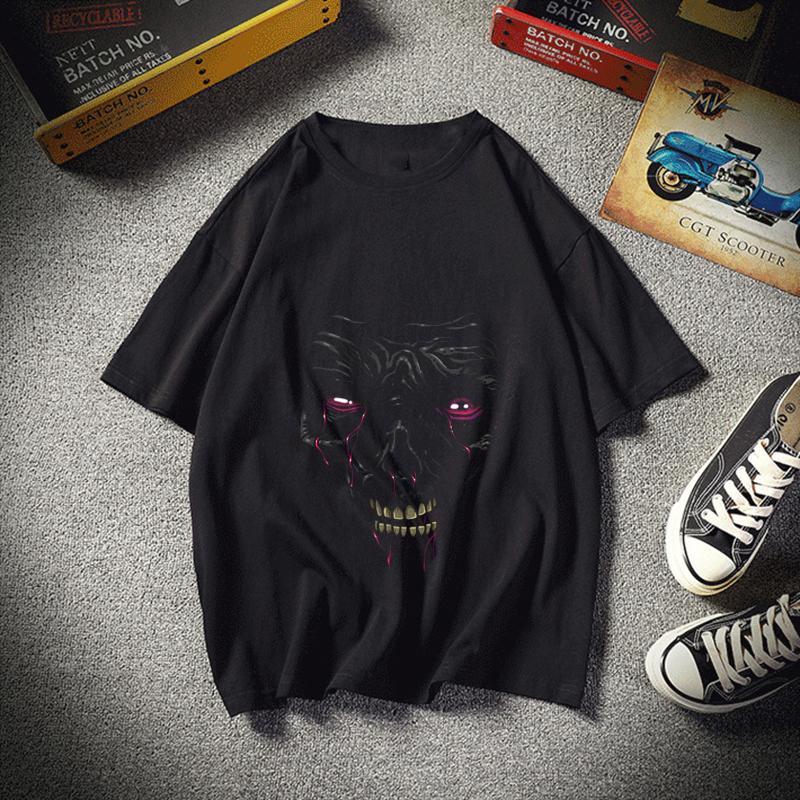 Blood Face Man Повседневный T-Shirt Men T Shirt Military Мужские футболки Женщины моды тройники