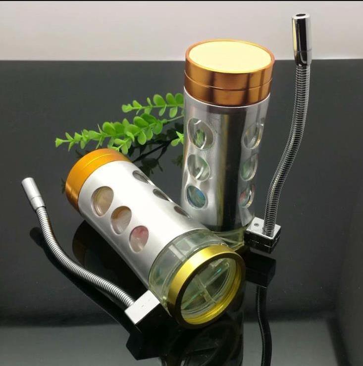 nouvelle Europe et le tuyau Americaglass barboteur fumer eau tuyau bong en verre pot en acier léger
