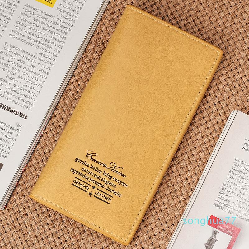 Diseñador de la Caliente-venta! Moda Mujeres largo carpeta de las señoras bolso de embrague de cuero auténtico titular de la tarjeta del bolso 1PCS envío