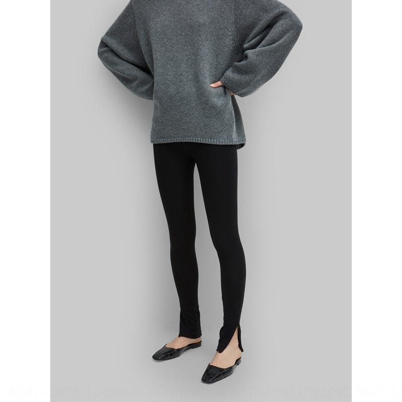 hCufN Nordic pencil Tight pencil classic Cork pants zipper split stretch slimming leggings TOT pants