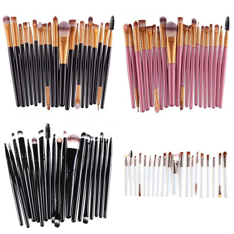 Набор кистей для макияжа лица глаз Функция кисти высокого качества костюма Красочные деревянные полюс Стиль красоты Бытовая техника Пластиковые ручки 6 8aS B2