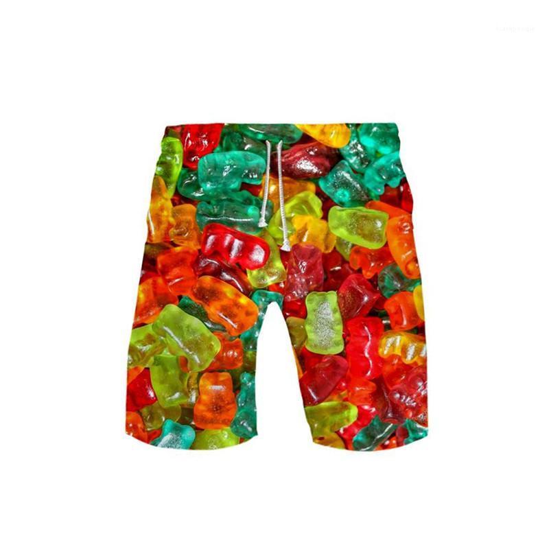Longitud de la rodilla caramelo pantalones cortos hombres con cordón suelto recto corto con bolsillos para hombre del diseñador de playa Adolescentes cortocircuitos del verano