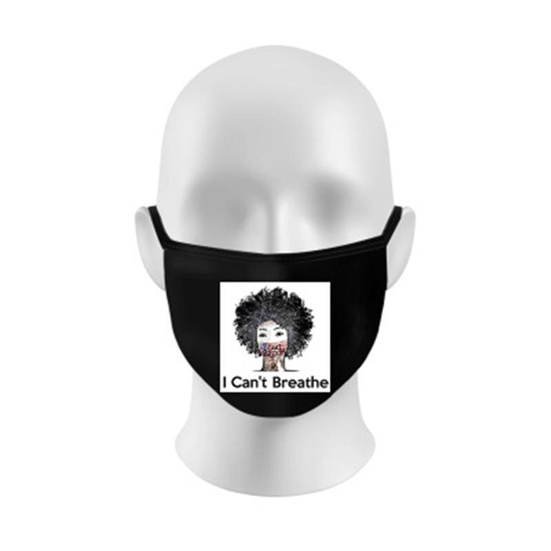 K95% reutilizável Respirar 6 Válvula Filtro face Camada protetora Máscara Designer Carta Ma 7AH9