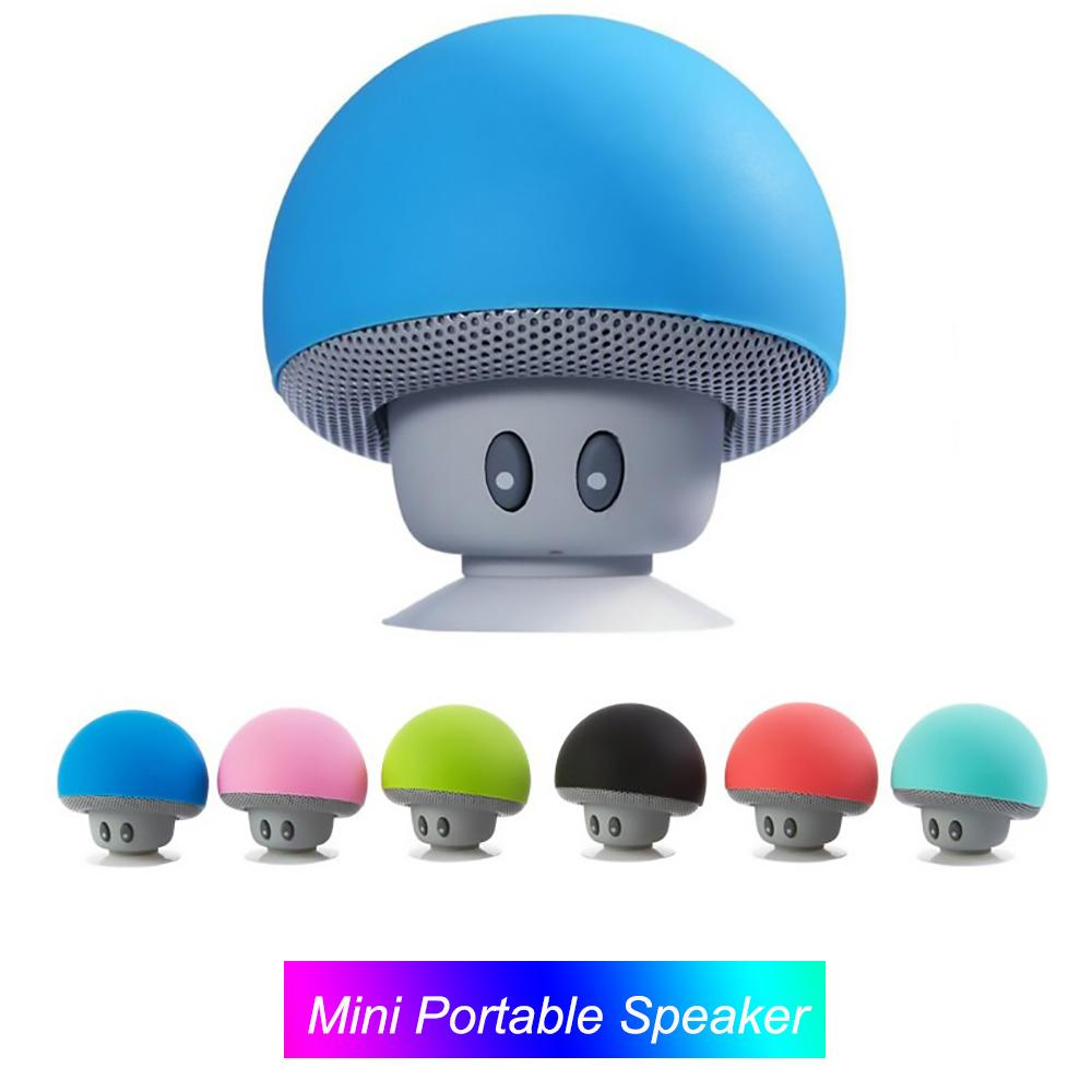 Mini Mushroom Bluetooth Speaker Wireless Stereo Music Speakers For Smartphones With Microphone Phone Stand Loudspeaker For Iphone 11 android