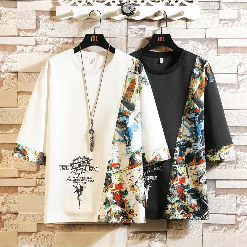 짧은 소매 티셔츠 남성 여름 고품질 티셔츠 탑 티셔츠 3D 인쇄 브랜드 패션 옷 플러스 크기 M-5XL 6XL 7xl O 넥