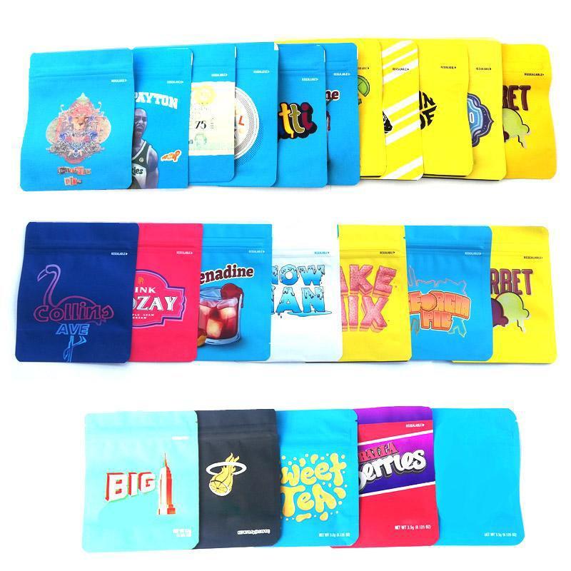 NERDS corda 600mg Mylar Retail Ziper Bag Childproof Smellproof saco de plástico Mordidas corda embalagem Bag for seco Herb Tabaco Flor Vape