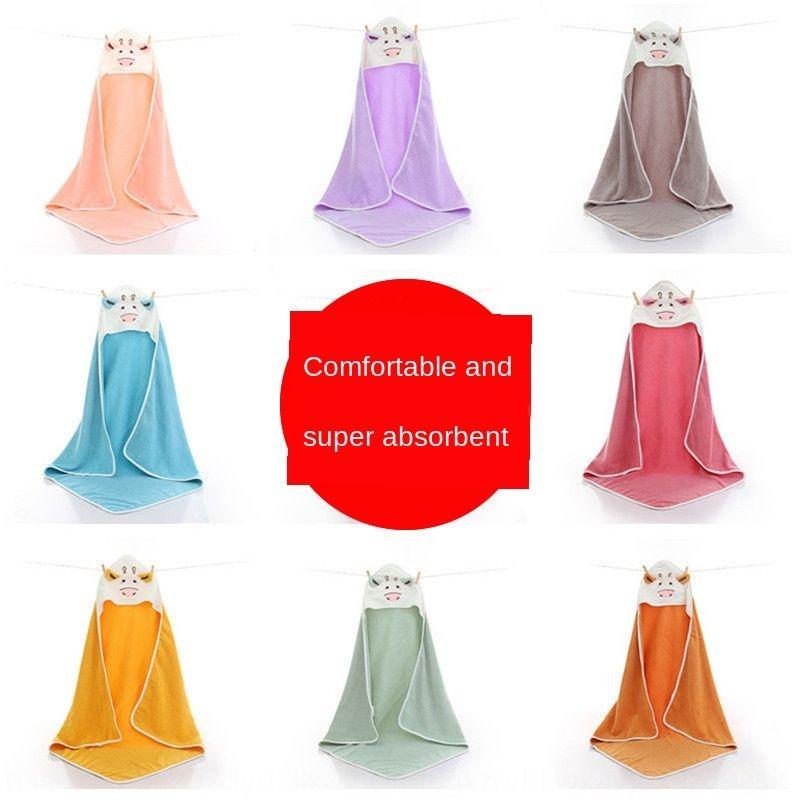 Pure Cotton children's bath towel cute cartoon cloak Bath towel cloak baby hooded quilt