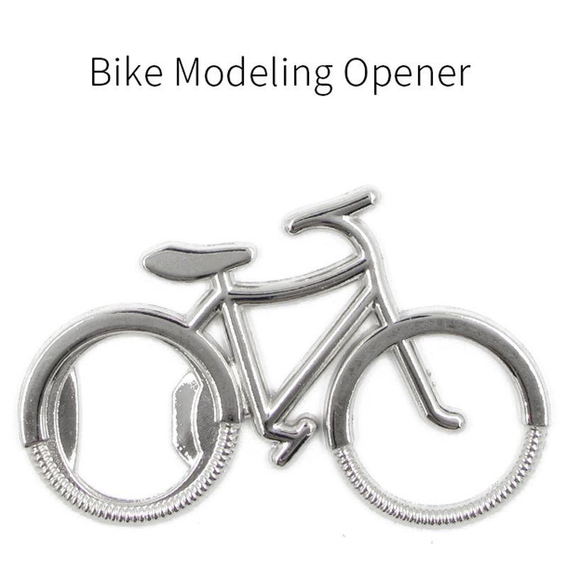 Botella de moda linda bicicleta de metal de cerveza abridor Llavero Anillos clave para regalo creativo bicicletas amante del motorista por un ciclo DH0248