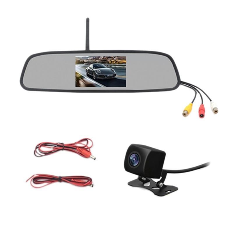 4,3 pollici HD 800X480 auto senza fili Wifi Lettore Video Monitor Interni Specchietto retrovisore con Night inversione macchina fotografica di sostegno del dvr