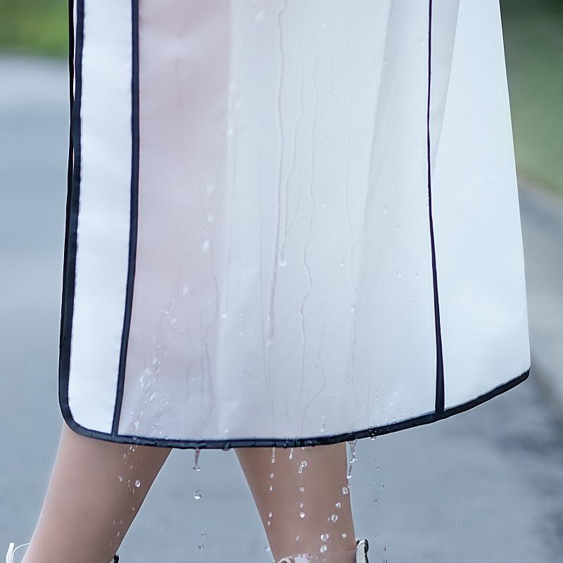 PnqaL X0t1s Raincoat alleinstehende Männer und Frauen Erwachsenenschutz Doppel Krempe lange einteilige durchscheinend Art und Weise Regenmantel Mantel im Freien Protecti