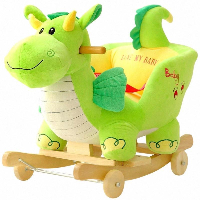 balançoire bébé peluche cheval jouet à bascule Chaise bébé Bouncer Siège de balançoire extérieur Bumper Kid Ride On Toy Rocking poussette s #