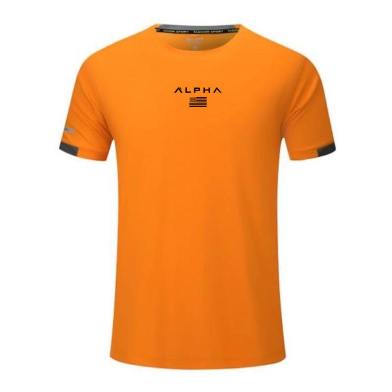 Les hommes en cours T-shirt de marque de sport de jogging GYM shirt à manches courtes de compression Chemises Rashguard serré sport hommes formation Tee