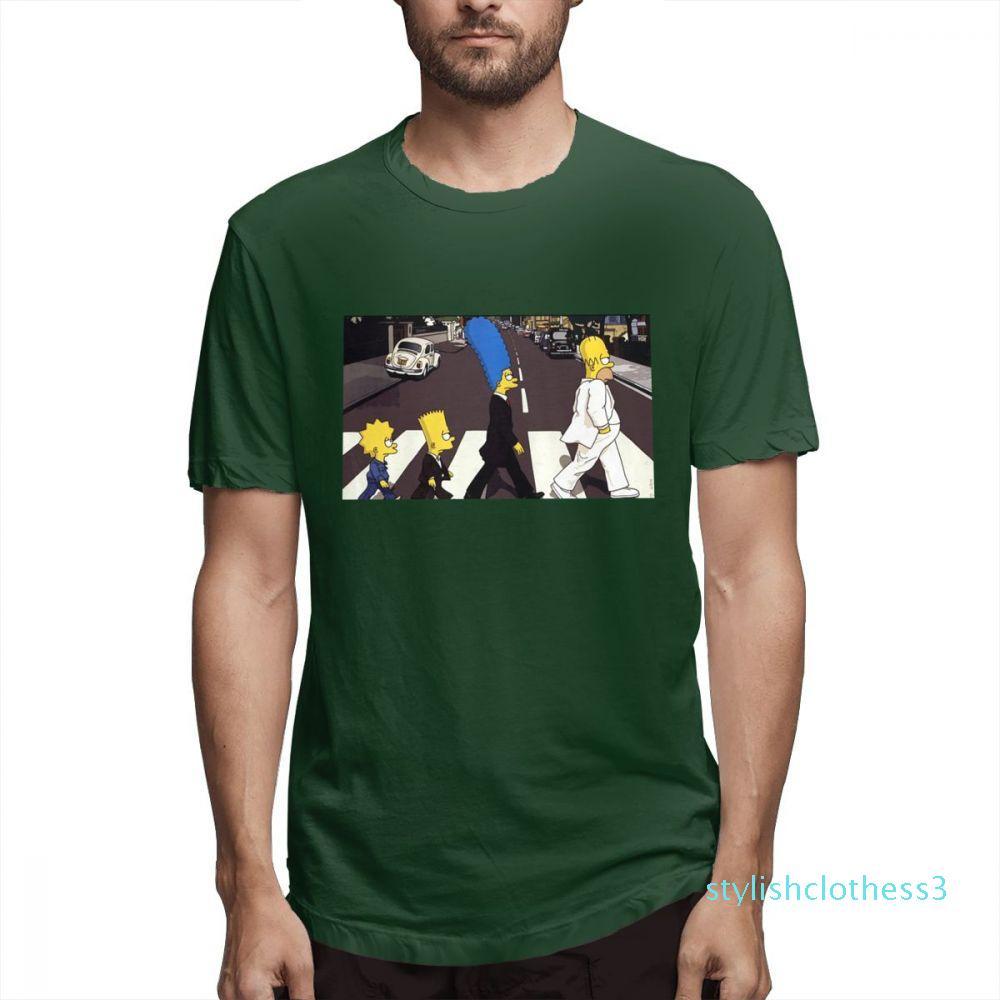 Cotone I Simpson moda progettista delle camice delle donne Camicie maniche corte Mens Shirt Il Simpsons stampato magliette causale c3503s03