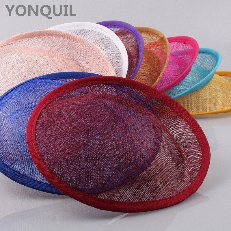17 colori Derby matrimonio 20 CM Sinamay Fascinators cappelli di partito di base fascinators accessori per capelli fai da te Divise cocktail 5pcs / lot UkCV #