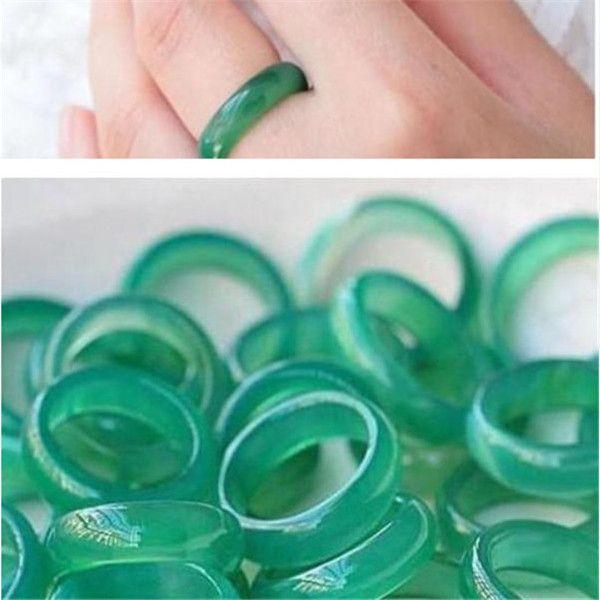 100% Misto Tamanho Natural de alta qualidade Jade Anel Burma Hetero Escolha a cor é completa de variação + frete grátis 2