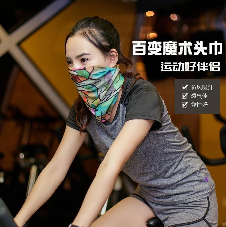 inconsútil mágico al aire libre de la bicicleta de la bicicleta de los hombres y las mujeres que monta el collar máscara a prueba de viento de la bufanda bufanda de la protección solar del verano