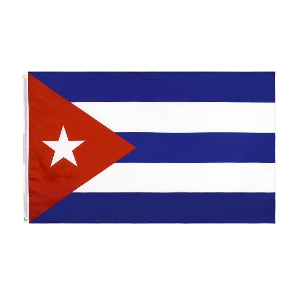 Freies Verschiffen auf Lager 3x5ft 90x150cm Hängen Havana CU CUB Kuba Unabhängigkeit Freiheit Flagge für Feier-Dekoration