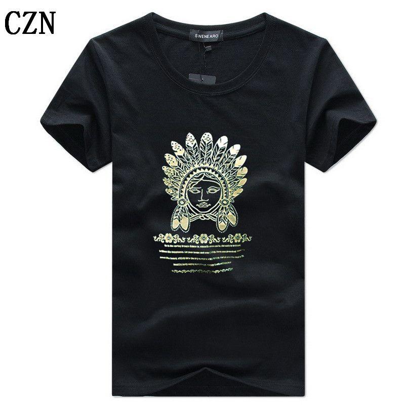 Los hombres camisetas impresión de la moda del inconformista Camiseta divertida de los hombres de verano calle ocasional de Hip Hop Camiseta hombre camiseta 5XL C-6