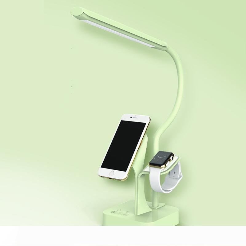 Светодиодные настольные лампы Складной сенсорный Белый Розовый Синий стол USB зарядный Настольная лампа Спальня Кровать Reading Офис Настольная лампа