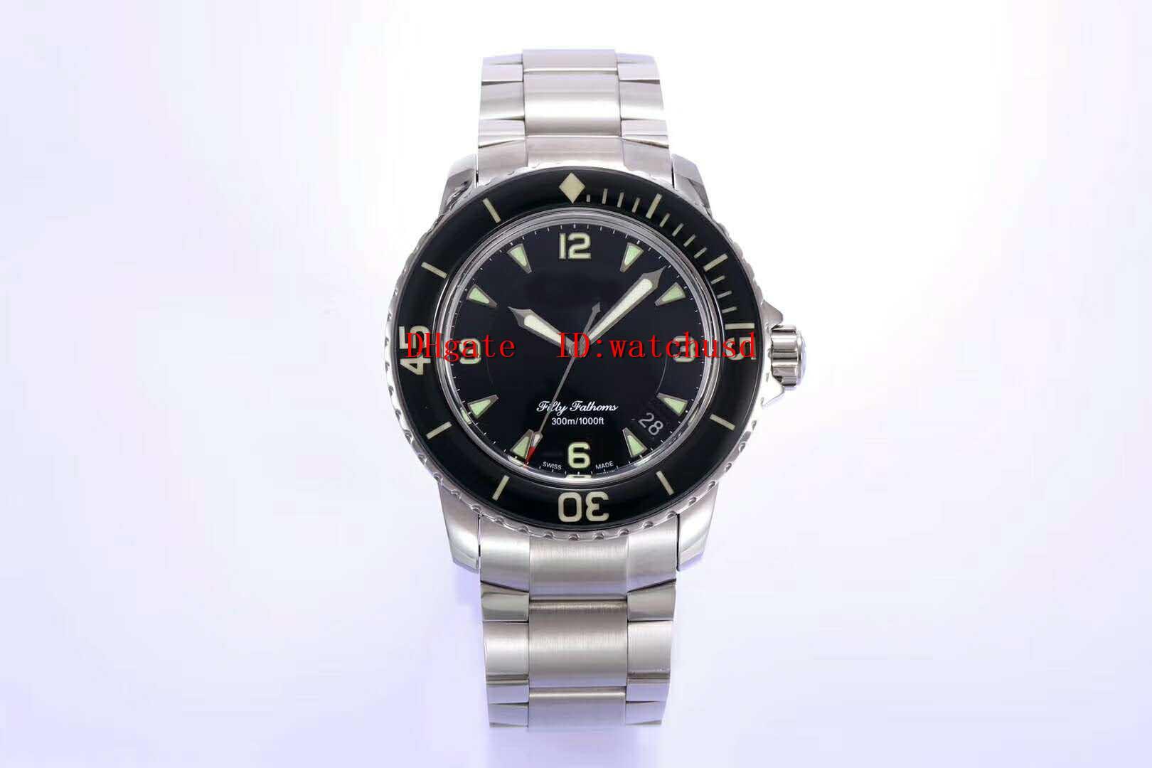 relojes ZF fábrica CINCUENTA FATHOMS para hombre del reloj de acero inoxidable de negocios zafiro impermeable mecánico automático suizo Caja sólida Volver